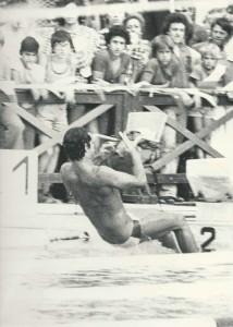 Michele Garufi agli Assoluti di Livorno nel 1973