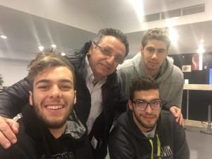 Meir Loya e Marc Hinawi con Gregorio Paltrinieri e Gabriele Detti
