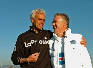 Paolo Penso con l'ex calciatore e allenatore juventino Didier Deschamps