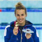 Tania Cagnotto con l'oro europeo (Giorgio Perottino-Deepbluemedia)