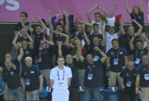 Gli incitamenti del Team Italia (Rai Sport)