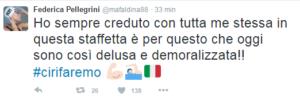 Il tweet serale di Federica Pellegrini