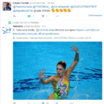 Linda Cerruti ha ritwittato l'articolo e pubblicamente ringraziato Swimbiz