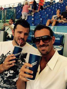 Alessandro Terrin col tecnico Fabrizio De Cristofaro