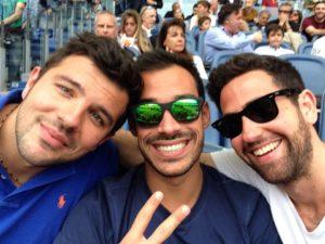 Alessandro Terrin con Luca Marin e Nicola Cassio