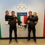 Tania Cagnotto e Francesca Dallapè con Giovanni Tocci e Andrea Chiarabini.