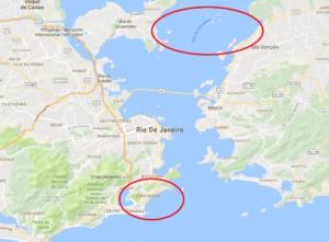 La Baia di Guanabara di Rio e la spiaggia di Copacabana (Google)