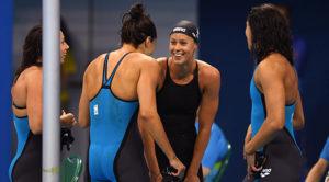 Staffetta 4x100 Stile Libero Donne Rio de Janeiro 06-08-2016 Olympic Aquatics Stadium Swimming Nuoto
