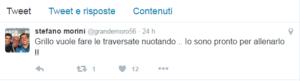 Il tweet di Stefano Morini