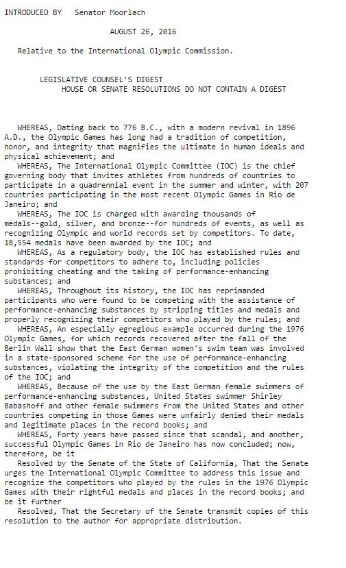 Il testo della risoluzione, approvato ieri