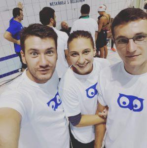 Da sx Paolo Bossini, l'atleta Zavadova e l'assistant coach Tomas Brtnik