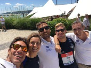 Da sx Stefano Rubaudo, Rachele Bruni, Fabrizio Antonelli, Simone Ruffini, Emanuele Sacchi