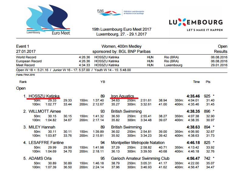 "Sprint Di Pietro e la ""squadra"" di Katinka Hosszu - Swimbiz aa21fc17e1"