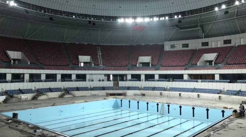 Mondiali in vasca corta: già montata la piscina temporanea