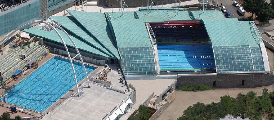Veduta aerea del Kantrida Aquatic Centre di Rijeka