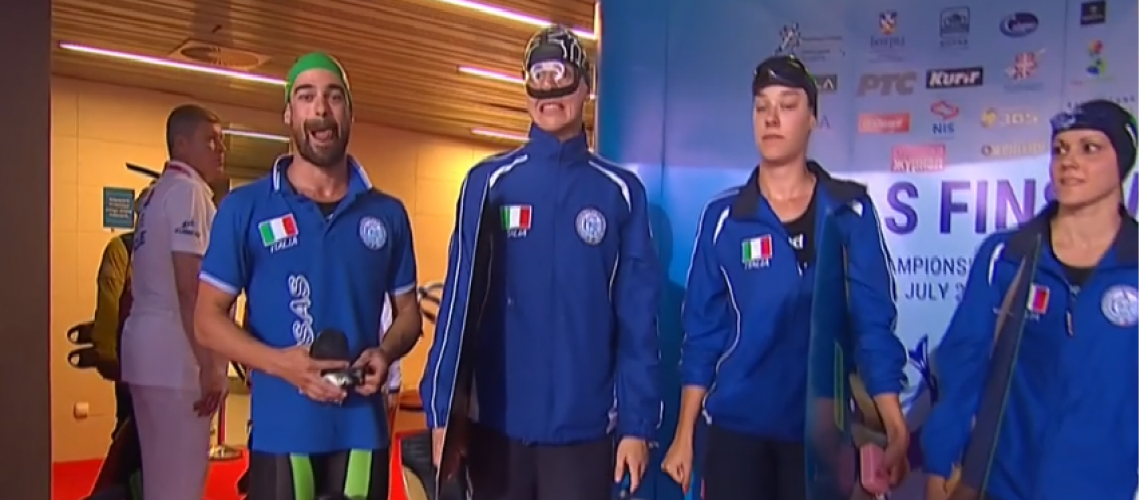 La staffetta azzurra 4x50 m mista di superficie, Argento mondiale (olympic channel)