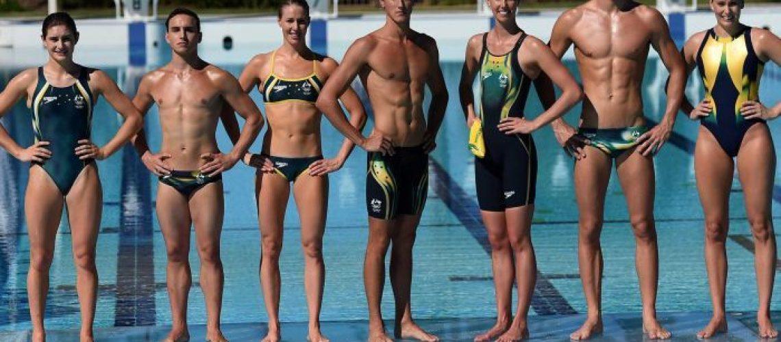 Membri del team olimpico australiano di nuoto a Rio 2016