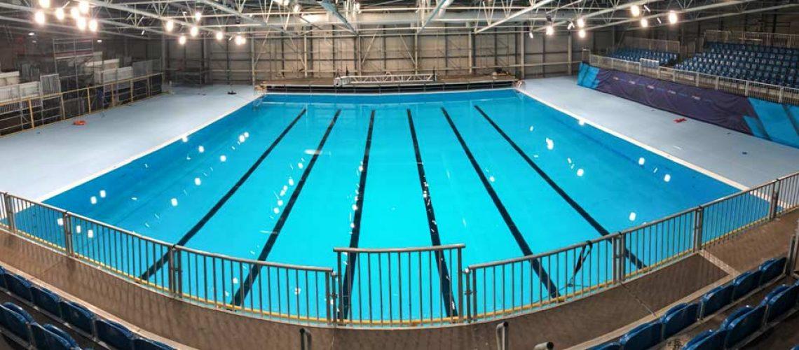 La piscina temporanea di Glasgow