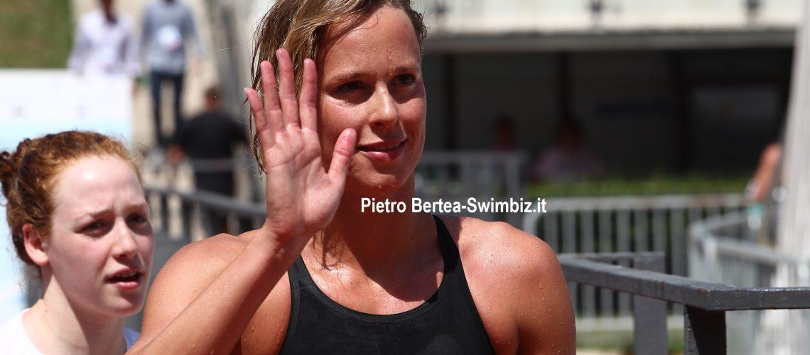 Federica Pellegrini allo Stadio del Nuoto