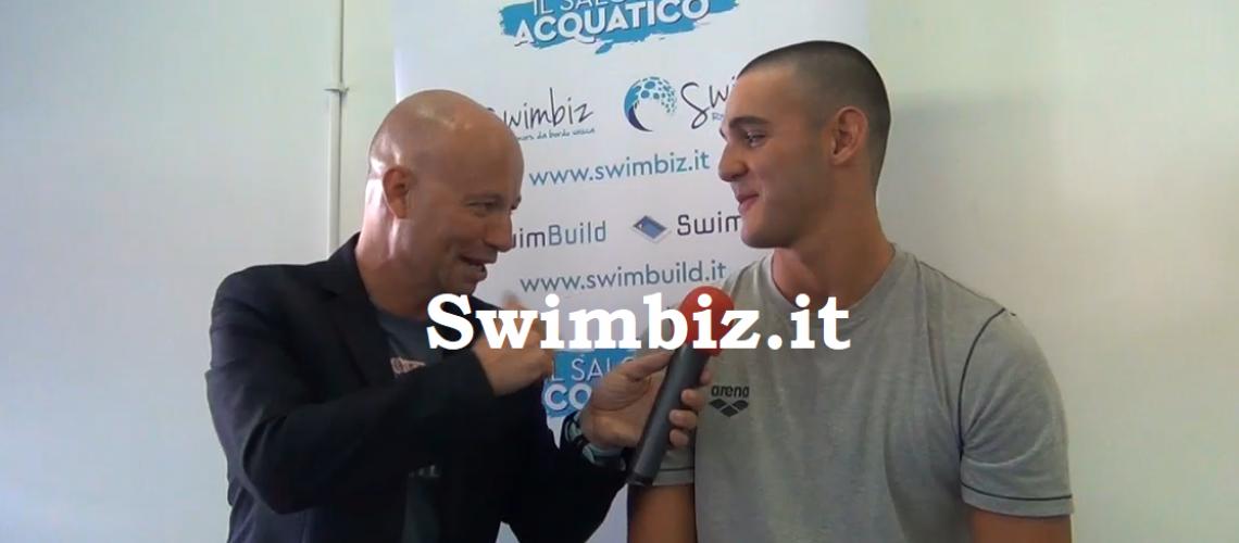 Alessandro Pinzuti al Salotto Acquatico di Swimbiz