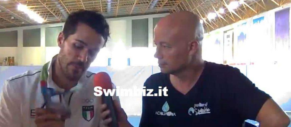 Gianluca Allegretti al Salotto Acquatico di Swimbiz