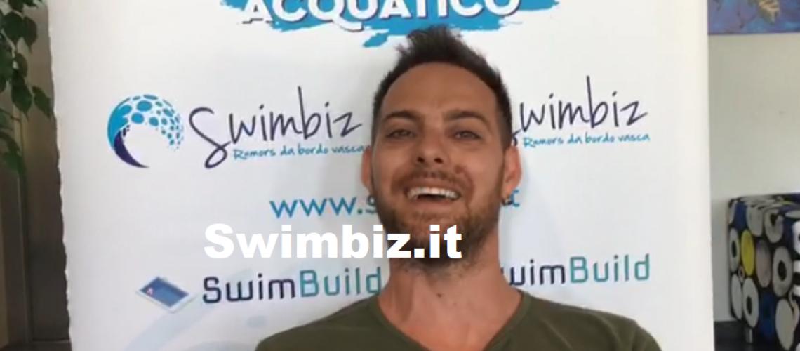 Andrea Sabino al Flash Acquatico di Swimbiz