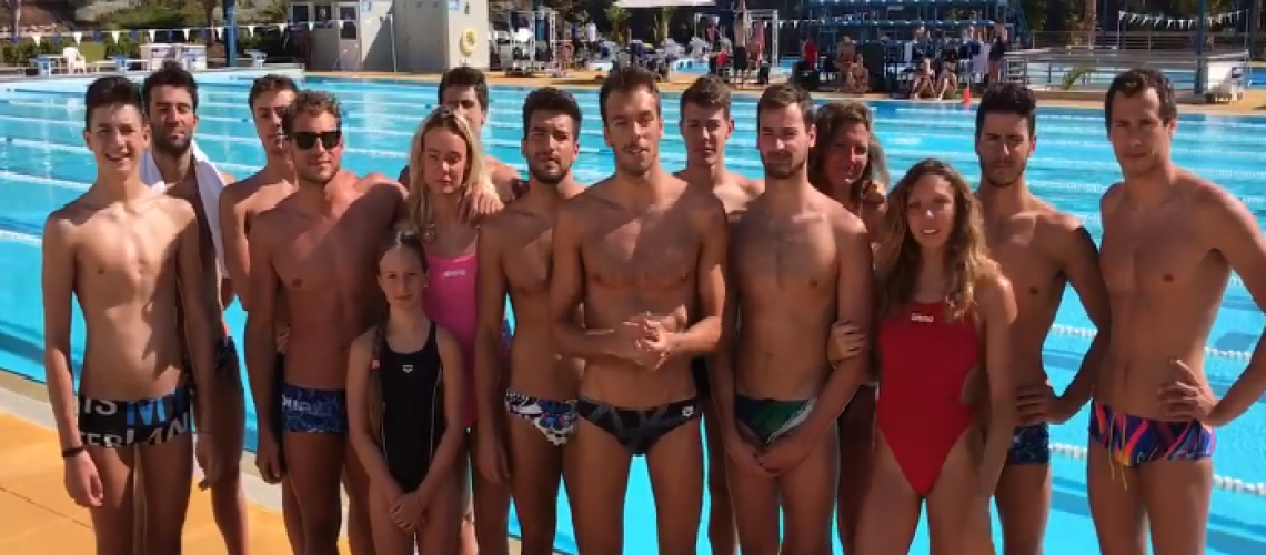 Gli atleti in collegiale a Tenerife