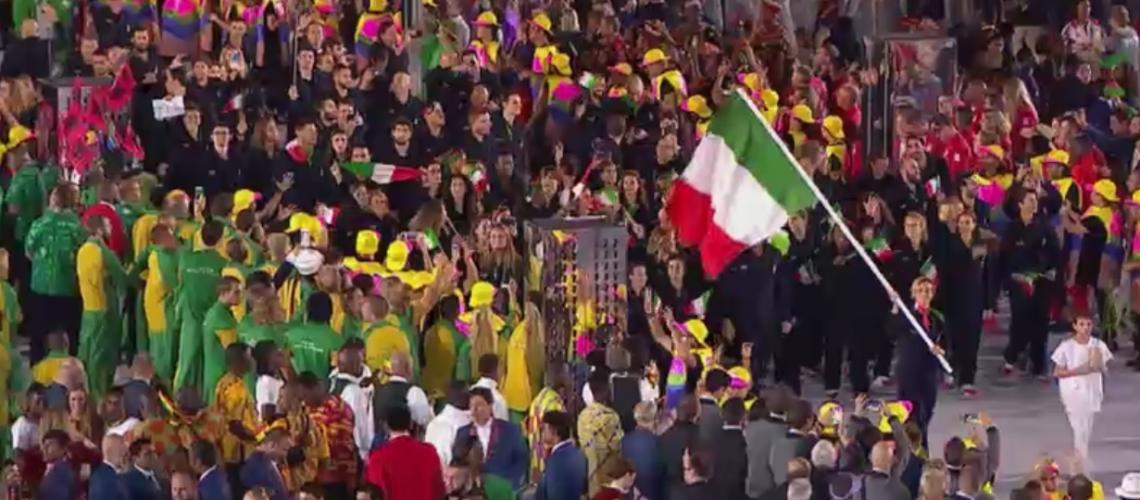 L'ingresso dell'Italia al Maracanà di Rio