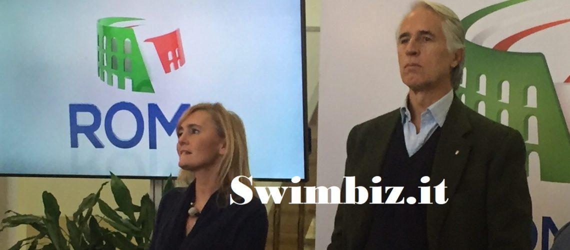 Diana Bianchedi e il Presidente del Coni, Giovanni Malagò