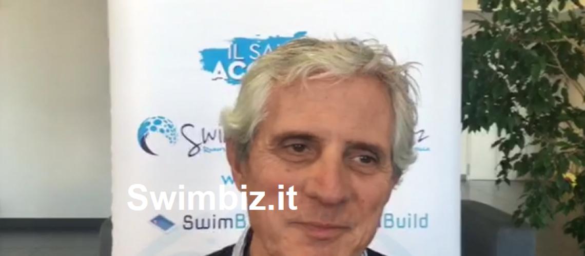 Il Dt dell'Italnuoto Cesare Butini al Flash Acquatico di Swimbiz