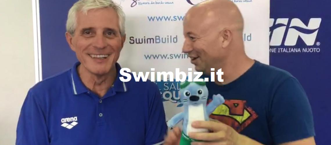Cesare Butini al Salotto Acquatico di Swimbiz