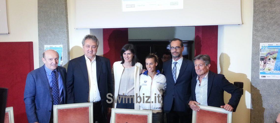La conferenza stampa degli Assoluti di tuffi a Torino