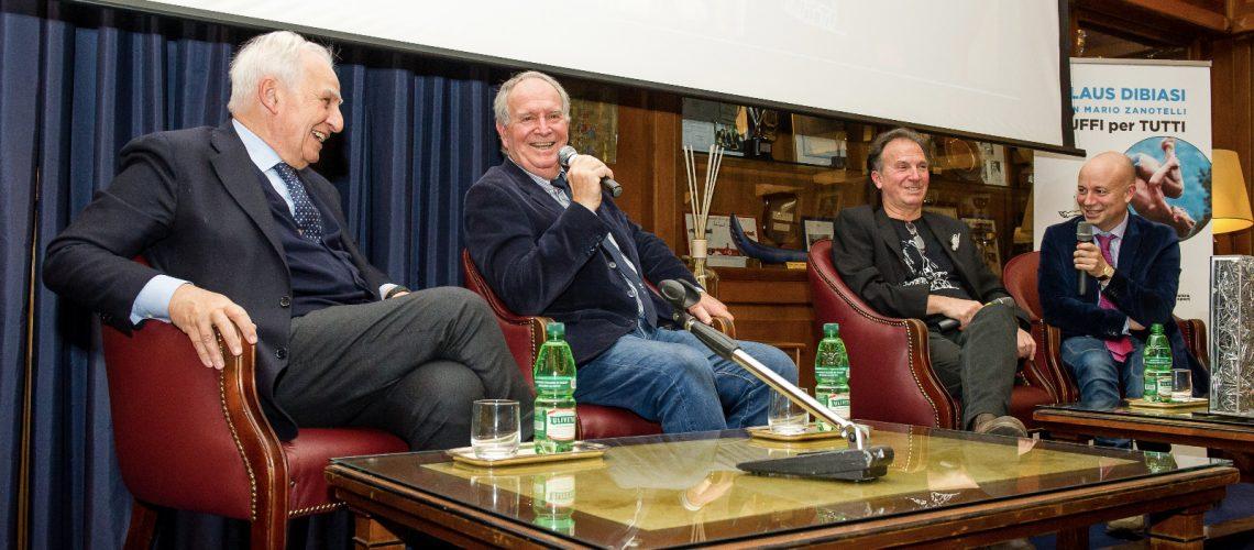 La presentazione del libro di Klaus Dibiasi e Zanotelli al Circolo Canottieri Aniene
