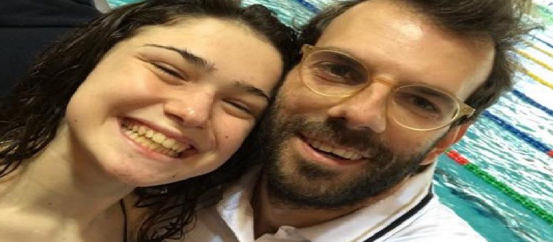 Benedetta Pilato e coach Vito D'Onghia