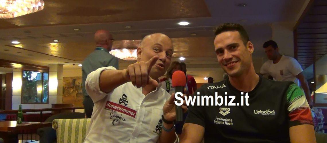 Fabio Scozzoli al Salotto Acquatico di Swimbiz.it