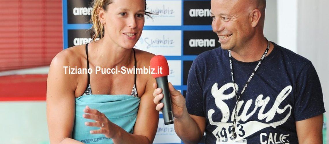 Federica Pellegrini al Salotto Acquatico di Swimbiz.it