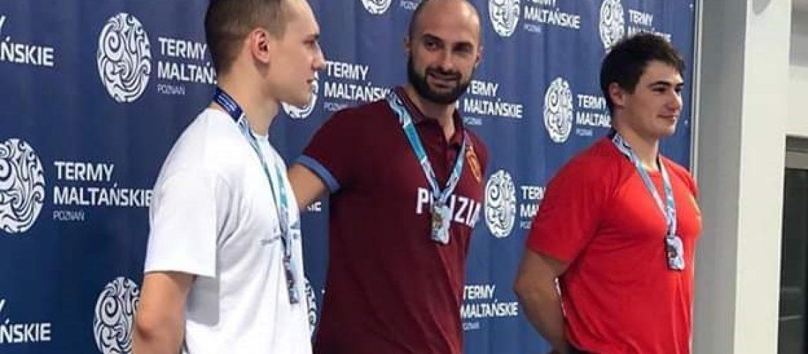 Stefano Figini sul primo gradino del podio