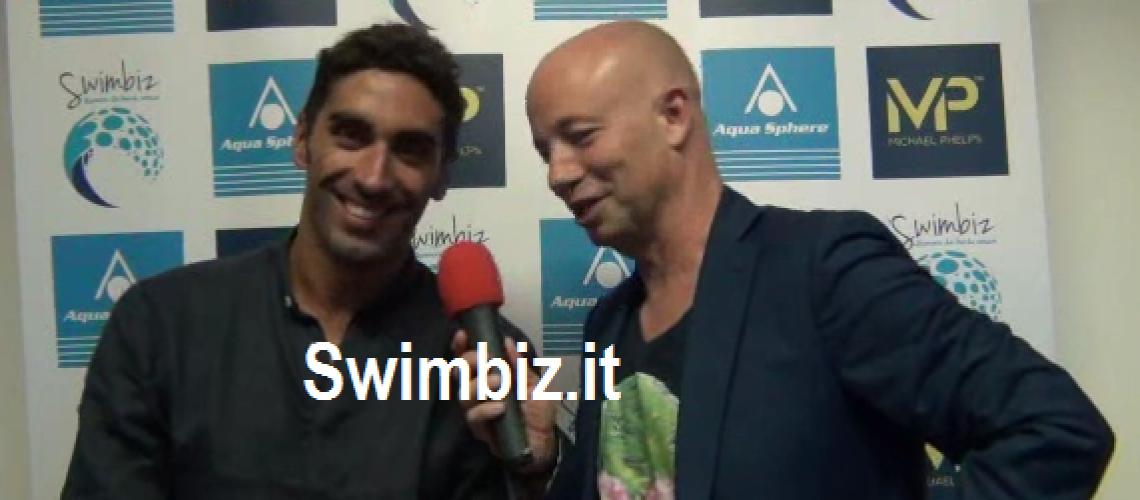 Filippo Magnini al Salotto Acquatico di Swimbiz.it