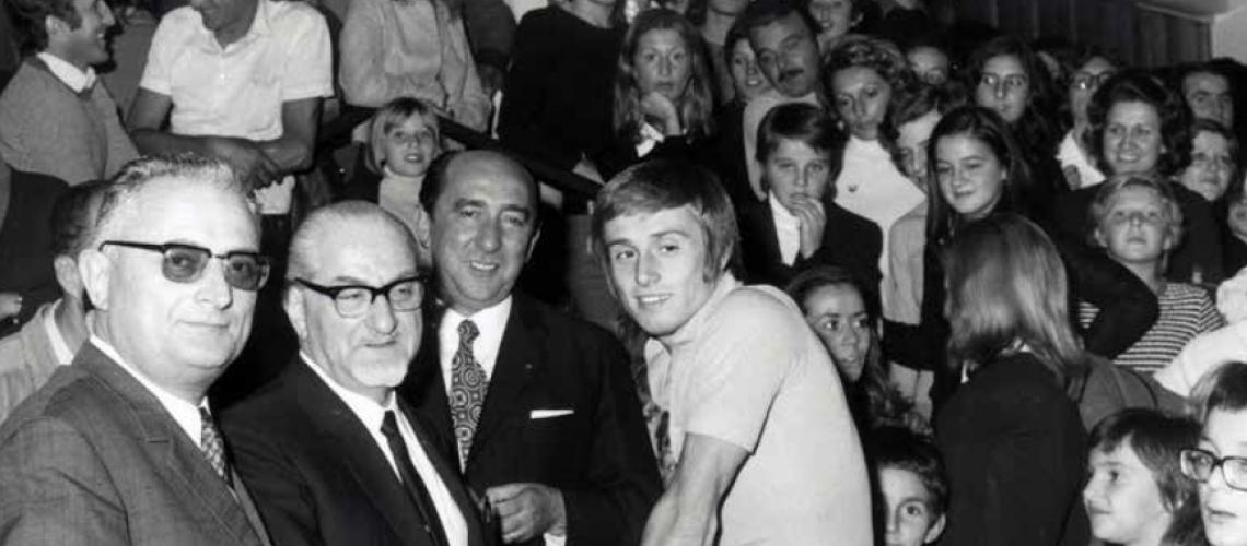 Il giovane Giorgio Cagnotto