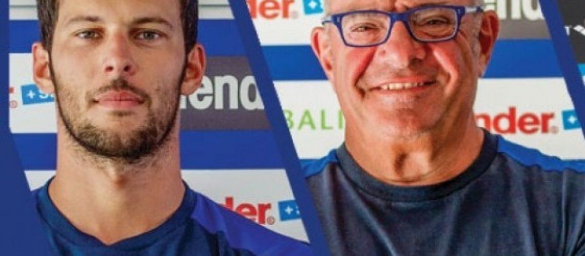 A sx Matteo Giunta, a dx Stefano Morini