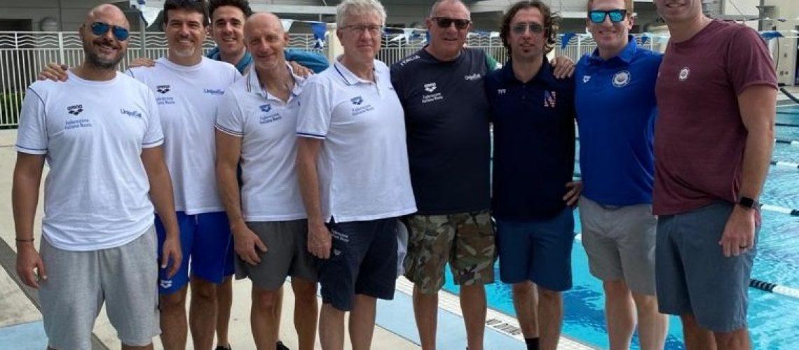 Gli staff d'Italia e Stati Uniti insieme a Fort Lauderdale
