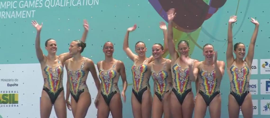 La nazionale italiana di synchro qualificatasi lo scorso anno alle Olimpiadi di Rio de Janeiro