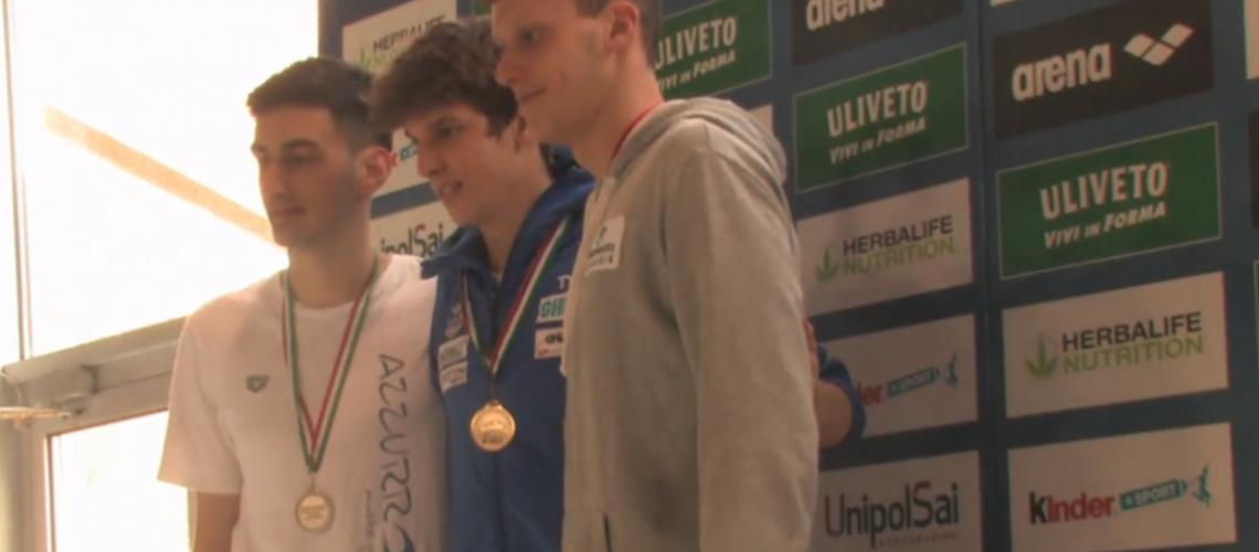 Matteo Lamberti sul podio