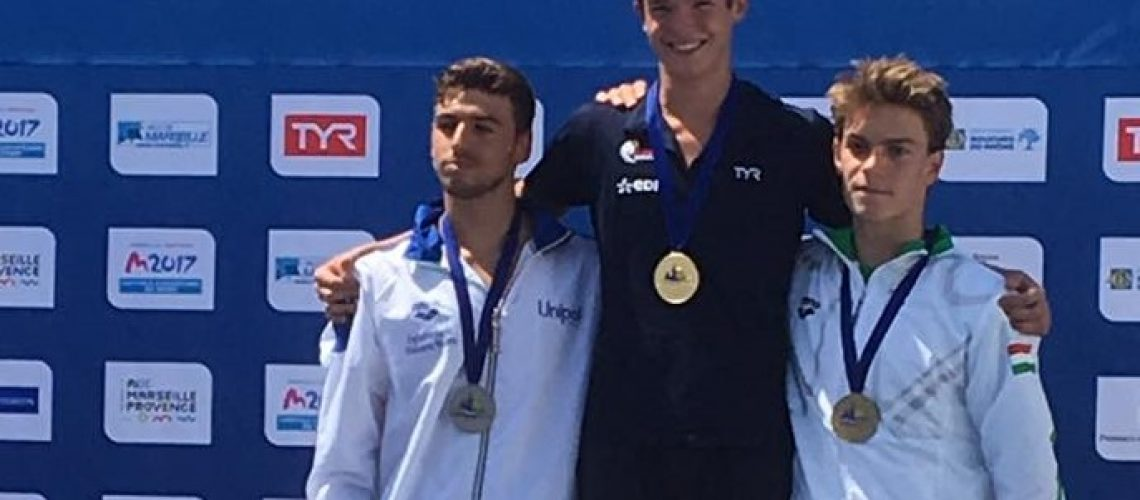 Luca Amura sul podio