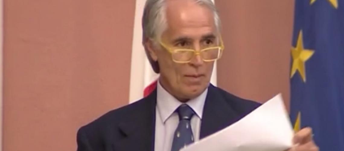 Giovanni Malagò durante la conferenza stampa