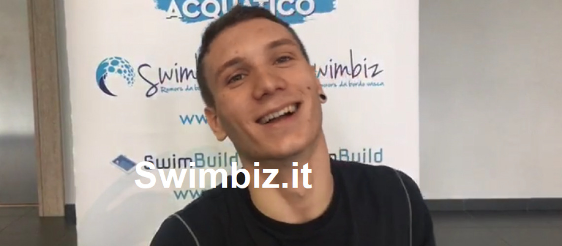 Manuel Bortuzzo al Flash Acquatico di Swimbiz