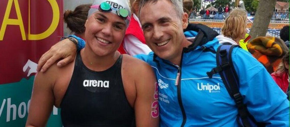 Martina Grimaldi col tecnico Emanuele Sacchi
