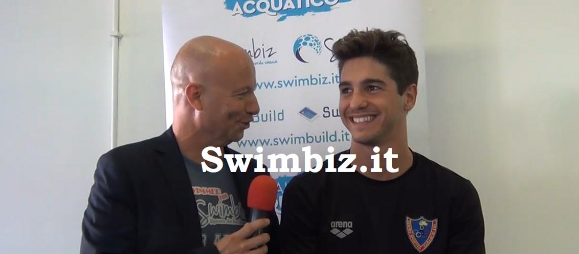 Matteo Restivo al Salotto Acquatico di Swimbiz