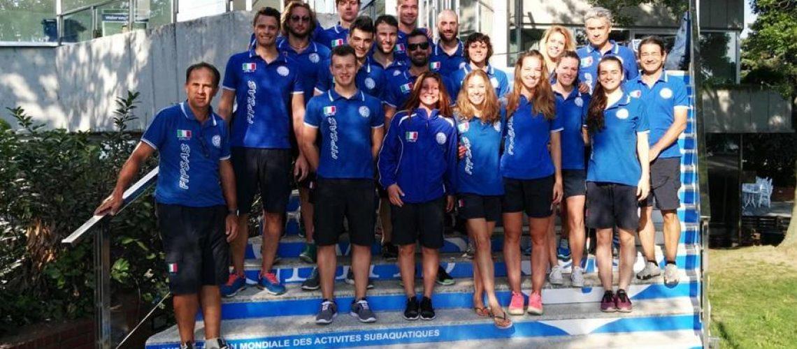 La nazionale italiana di nuoto pinnato