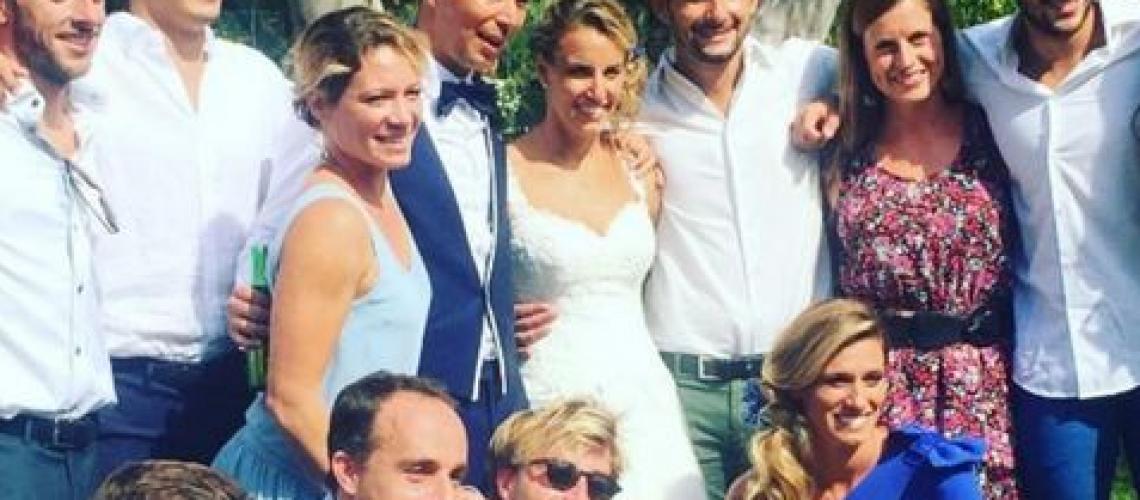 Tania Cagnotto e gli azzurri al suo matrimonio